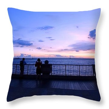 Throw Pillow featuring the photograph Enjoying The Beautiful Evening Sky by Yali Shi