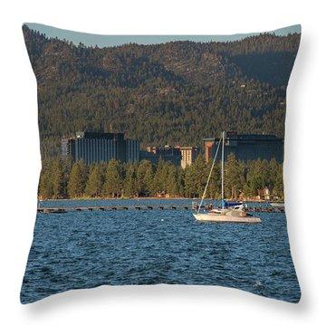 Enjoying The Lake Throw Pillow