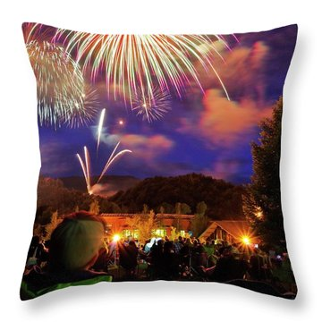 Enjoying The Show Throw Pillow by Matt Helm