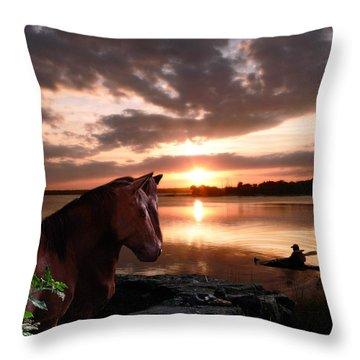 Enjoying The Sunset Throw Pillow