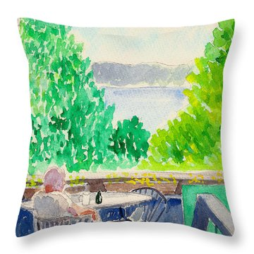 Enjoying The View Throw Pillow by Fred Jinkins