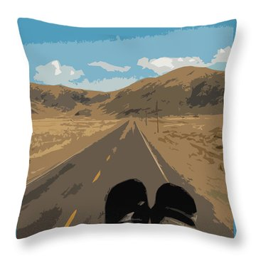 Enjoying The View Of The Peruvian Countryside Throw Pillow