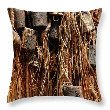 Throw Pillow featuring the photograph Enkhuizen Fishing Nets by KG Thienemann