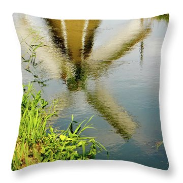 Throw Pillow featuring the photograph Enkhuizen Windmill by KG Thienemann