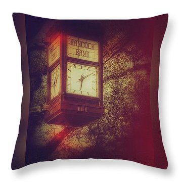 Vintage Clock Throw Pillow