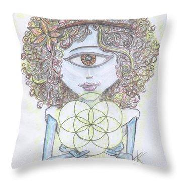 Enlightened Alien Throw Pillow