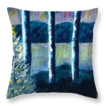 Enlightened Forest  Throw Pillow