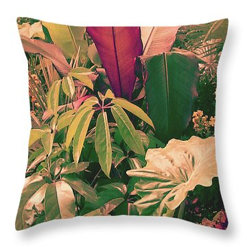Throw Pillow featuring the photograph Enlightened Jungle by Rebecca Harman