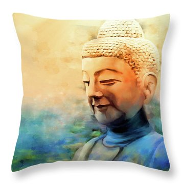 Enlightened One Throw Pillow