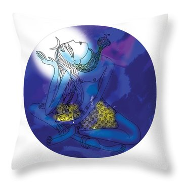 Enlightened Shiva  Throw Pillow