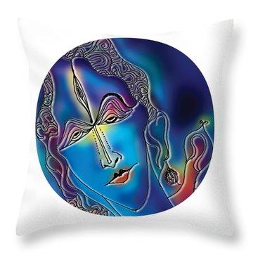 Enlightening Shiva Throw Pillow