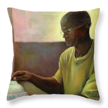 Throw Pillow featuring the painting Enlightenment by Marlene Book