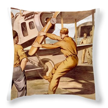 Enlist In The Air Service Throw Pillow