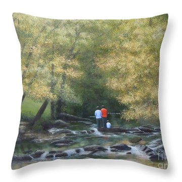 Eno River Afternoon Throw Pillow