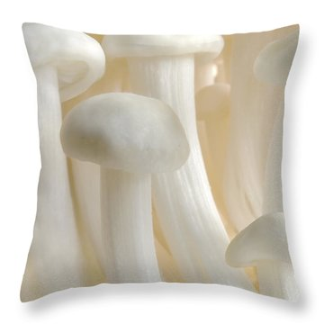Enoki Forest  Throw Pillow by John Poon