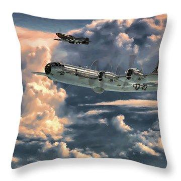 Enola Gay Throw Pillow by Dave Luebbert