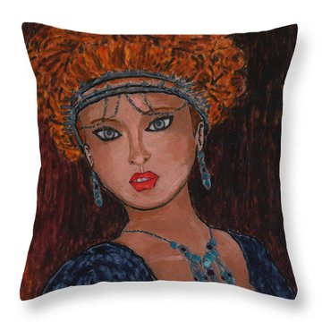 Enola Vaher Throw Pillow by Phil Strang