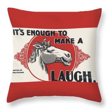 Enough Is Enough Throw Pillow by Pg Reproductions