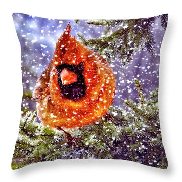 Enough Of This White Stuff Throw Pillow by Diane Schuster
