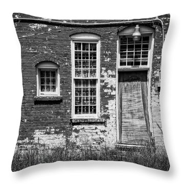 Throw Pillow featuring the photograph Enough Windows - Bw by Christopher Holmes