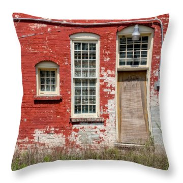 Throw Pillow featuring the photograph Enough Windows by Christopher Holmes