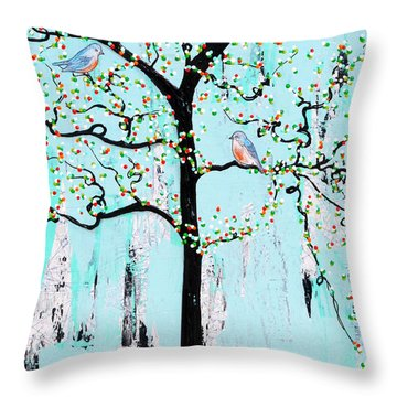 Enroute Throw Pillow by Natalie Briney