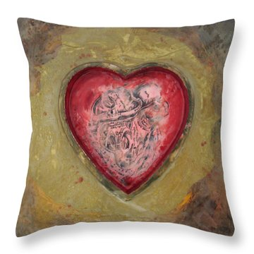 Enshrine - Inward Heart Throw Pillow