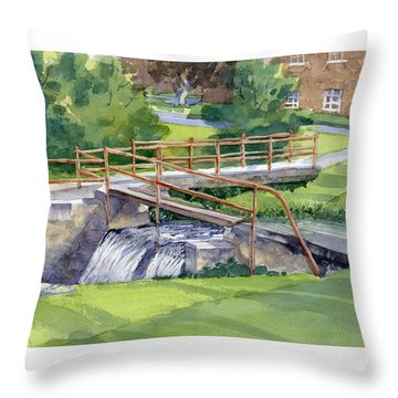 Ensign - Bickford Waterfall Throw Pillow