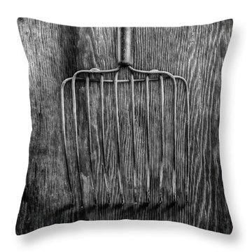 Ensilage Fork Down Throw Pillow