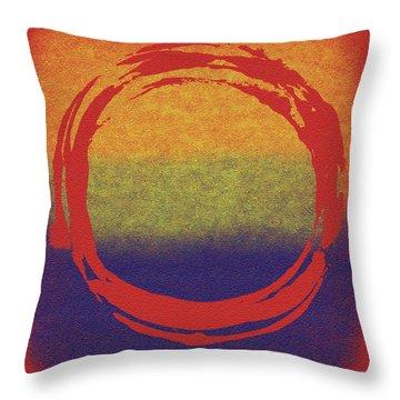 Enso 7 Throw Pillow by Julie Niemela