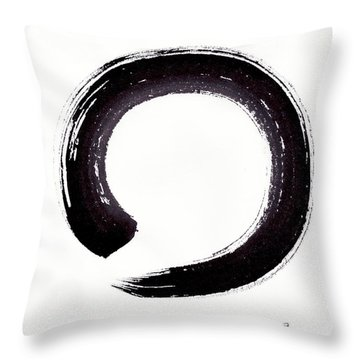 Enso - Embracing Imperfection Throw Pillow