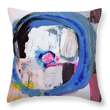 Enso, Blue Planent, Warm Heart Throw Pillow