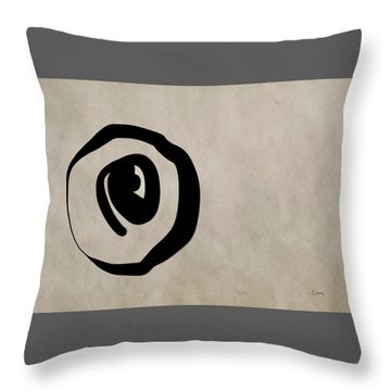 Enso Circle Throw Pillow