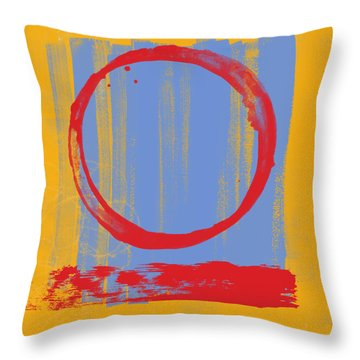 Enso Throw Pillow by Julie Niemela