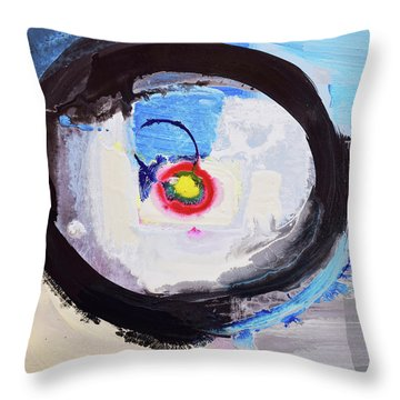 Enso Of Intimate Relationship Throw Pillow