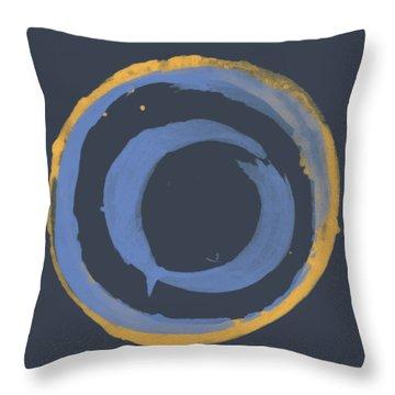 Enso T Blue Orange Throw Pillow by Julie Niemela