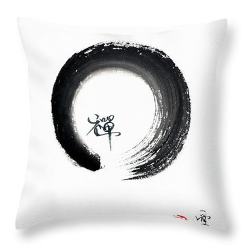 Enso Zen Throw Pillow