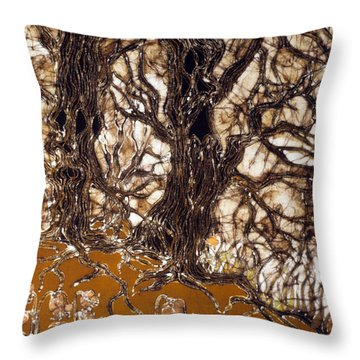 Ent Tree Forest Throw Pillow by Carol Law Conklin