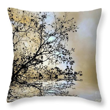 Throw Pillow featuring the photograph Entangled by Elfriede Fulda