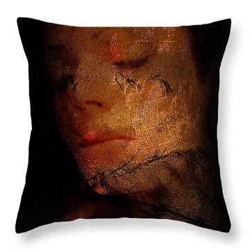 Entangled In The Past Throw Pillow