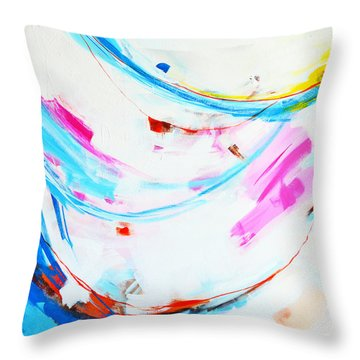 Entangled No. 8 - Left Side - Abstract Painting Throw Pillow