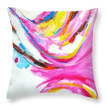 Entangled No. 8 - Right Side - Abstract Painting Throw Pillow
