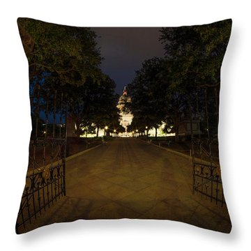 Enter Here Throw Pillow