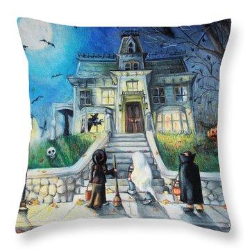Enter If You Dare Throw Pillow