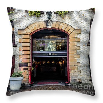 Throw Pillow featuring the photograph Enter by Perry Webster