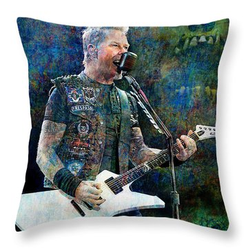 Enter Sandman, Metallica Throw Pillow
