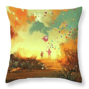 Enter The Fantasy Land Throw Pillow
