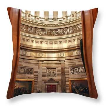 Enter The Rotunda Throw Pillow by Mitch Cat