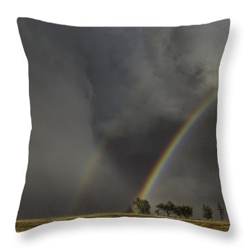 Enter The Storm Throw Pillow