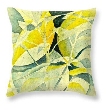 Throw Pillow featuring the painting Entering A New Realm by Carolyn Rosenberger